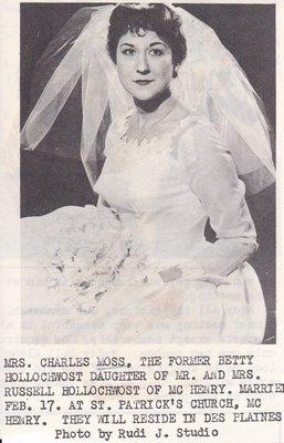 Wedding: Mrs Charles Moss