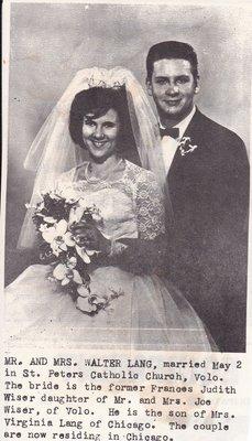 Wedding: Mr & Mrs Walter Lang