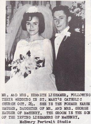 Wedding: Mr & Mrs Kenneth Lishamer