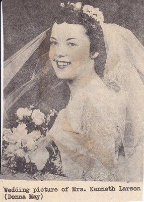 Wedding: Mrs Kenneth Larson