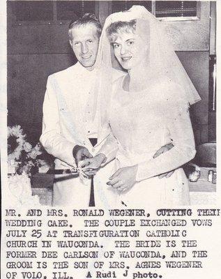 Wedding: Mr & Mrs Ronald Wegener