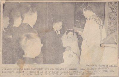 Wedding: Mr & Mrs Edward Zender