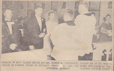 Wedding: Mr & Mrs Robert Schoenbeck