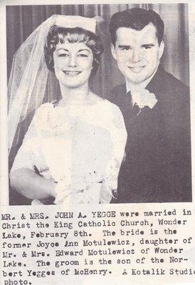 Wedding: Mr & Mrs John Yegge