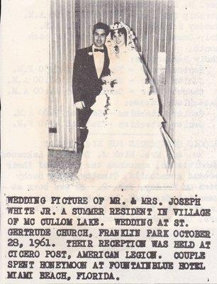 Wedding: Mr & Mrs Joseph White