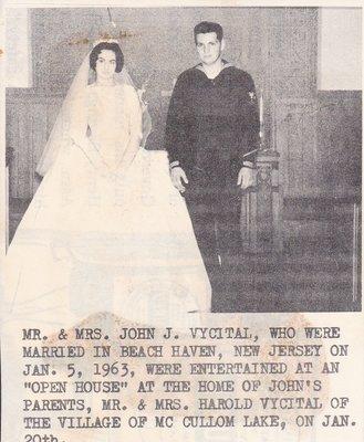 Wedding: Mr & Mrs John Vycital