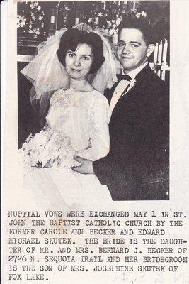 Wedding: Mr & Mrs Edward Skutek
