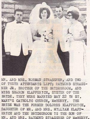 Wedding: Mr & Mrs Norman Strassner
