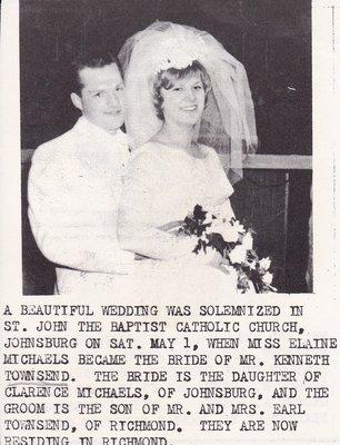 Wedding: Mr & Mrs Kenneth Townsend