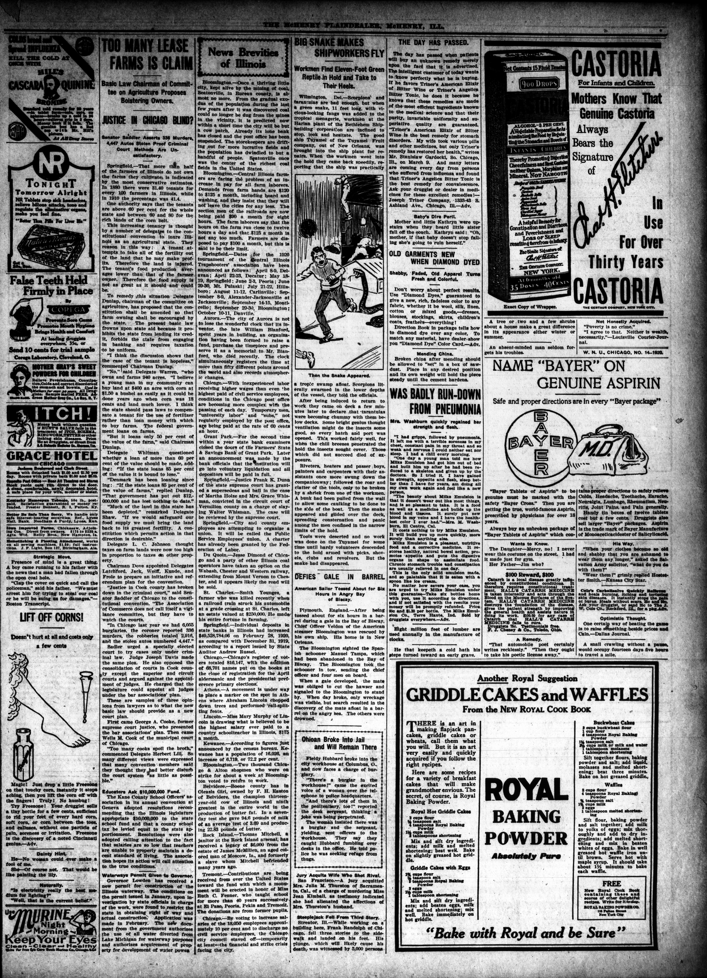 McHenry Plaindealer (McHenry, IL), 1 Apr 1920