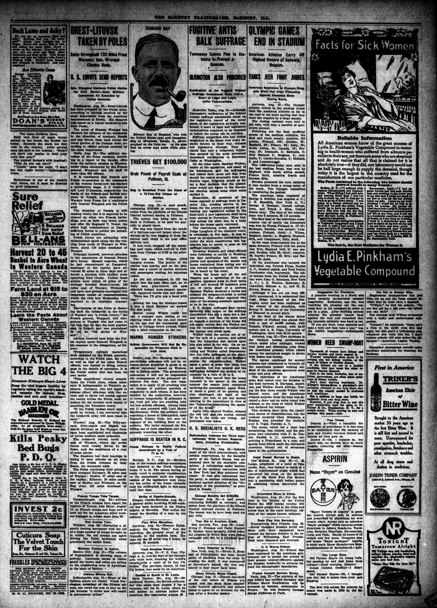 McHenry Plaindealer (McHenry, IL), 26 Aug 1920