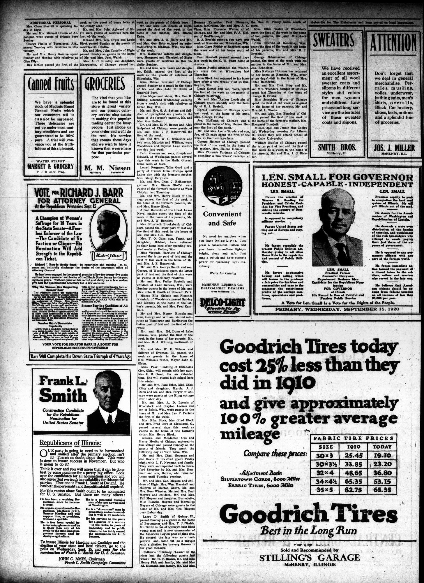 McHenry Plaindealer (McHenry, IL), 9 Sep 1920