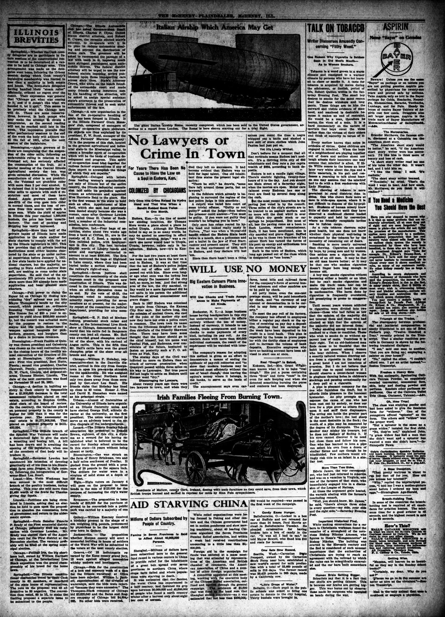 McHenry Plaindealer (McHenry, IL), 9 Dec 1920
