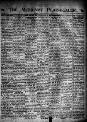 McHenry Plaindealer (McHenry, IL), 25 Aug 1921