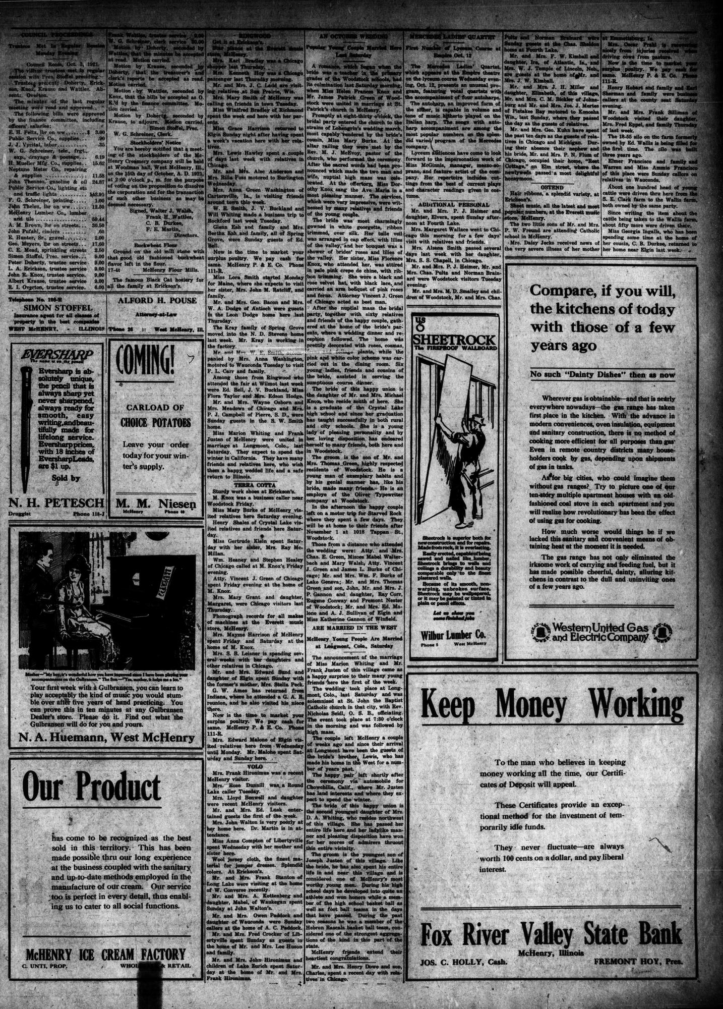McHenry Plaindealer (McHenry, IL), 6 Oct 1921