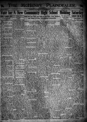 McHenry Plaindealer (McHenry, IL), 15 Dec 1921