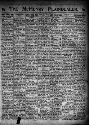 McHenry Plaindealer (McHenry, IL), 10 Aug 1922