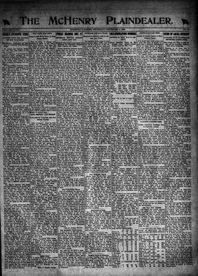 McHenry Plaindealer (McHenry, IL), 9 Nov 1922