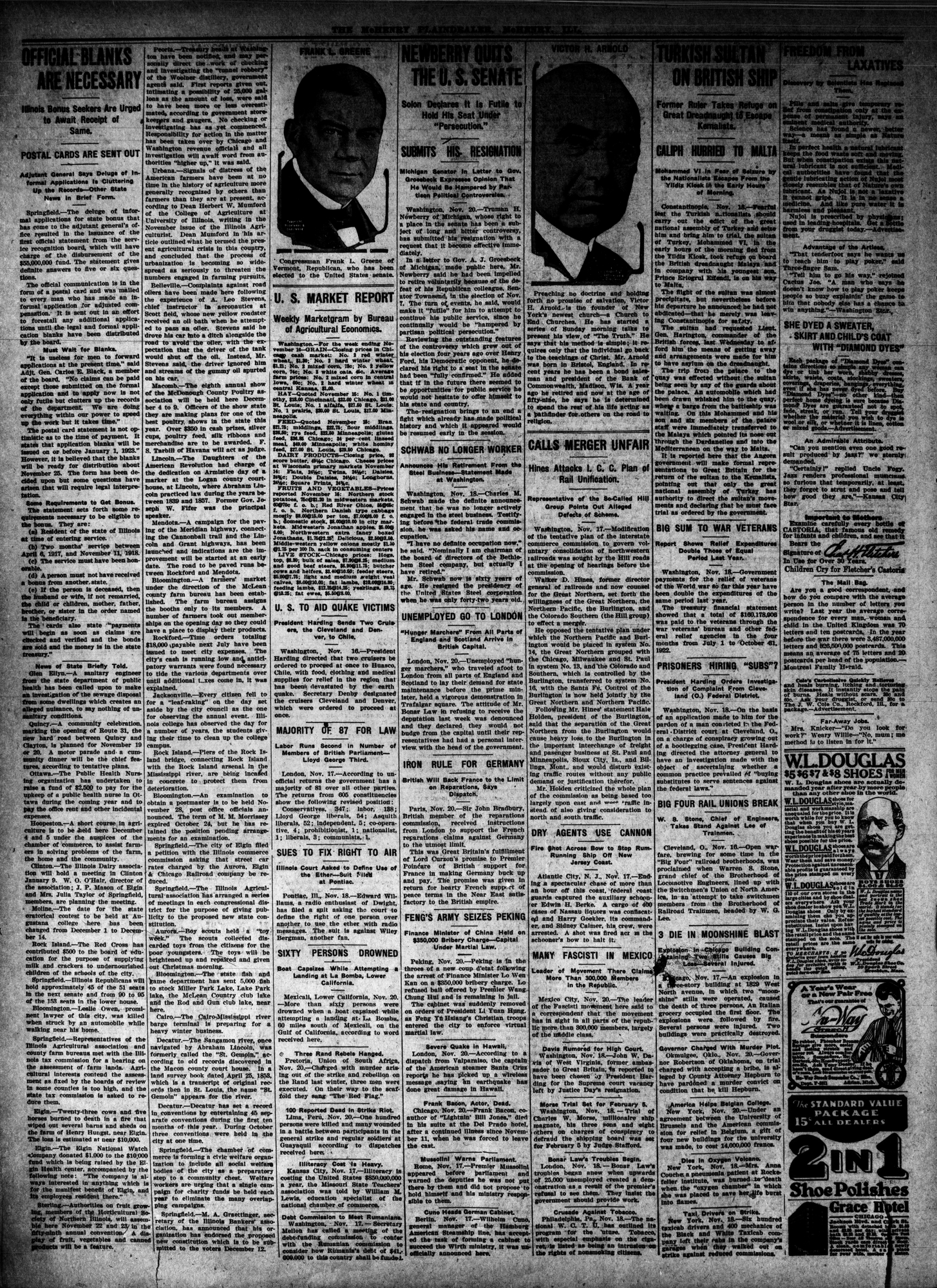 McHenry Plaindealer (McHenry, IL), 23 Nov 1922