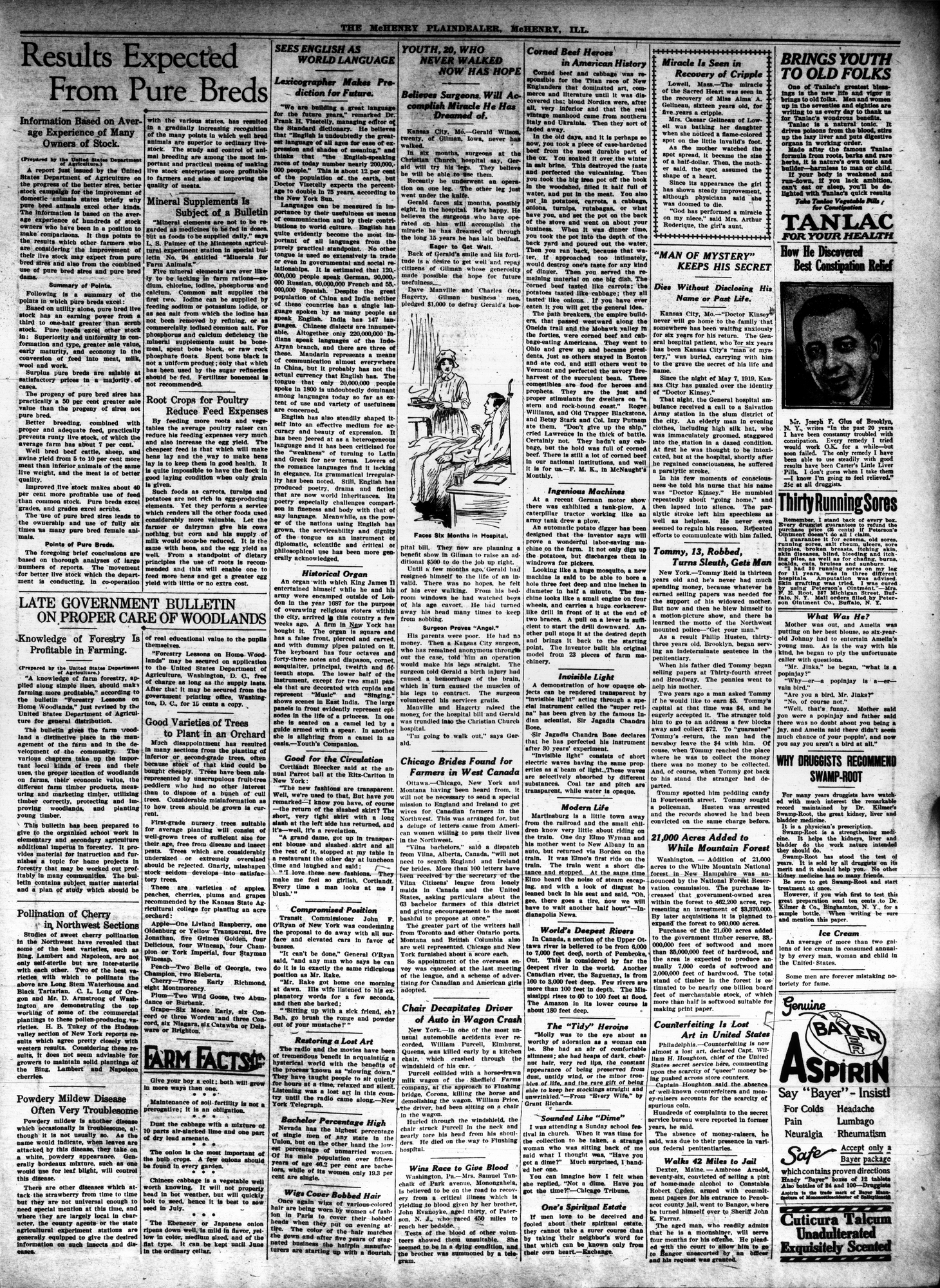 McHenry Plaindealer (McHenry, IL), 7 May 1925