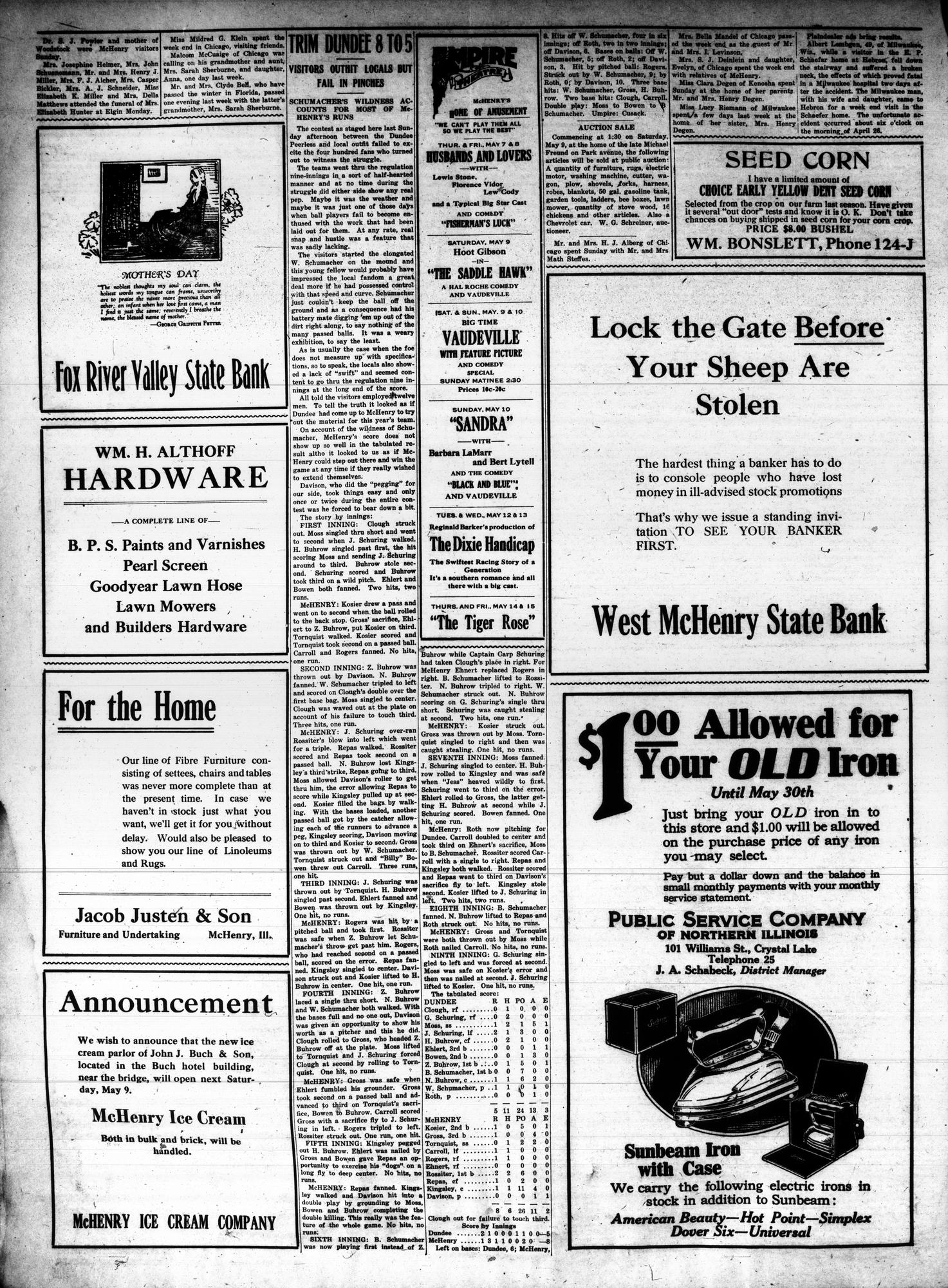 McHenry Plaindealer (McHenry, IL), 7 May 1925