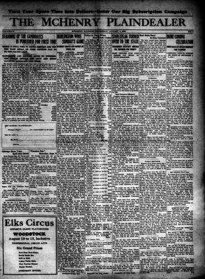 McHenry Plaindealer (McHenry, IL), 6 Aug 1925