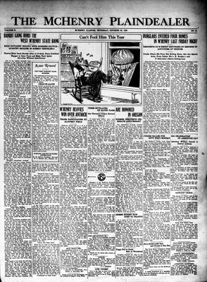 McHenry Plaindealer (McHenry, IL), 29 Oct 1925