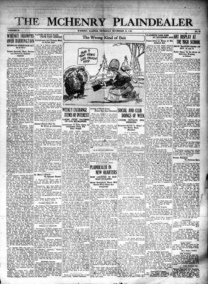 McHenry Plaindealer (McHenry, IL), 19 Nov 1925