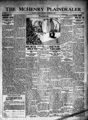 McHenry Plaindealer (McHenry, IL), 26 Nov 1925