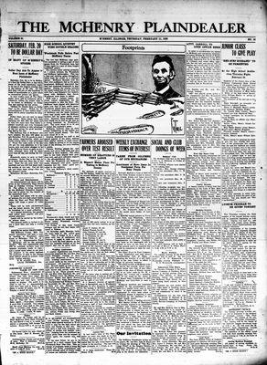 McHenry Plaindealer (McHenry, IL), 11 Feb 1926