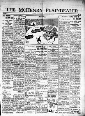McHenry Plaindealer (McHenry, IL), 25 Feb 1926