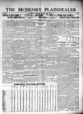 McHenry Plaindealer (McHenry, IL), 15 Apr 1926