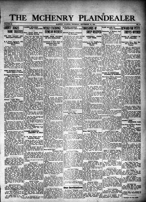 McHenry Plaindealer (McHenry, IL), 16 Sep 1926