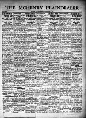 McHenry Plaindealer (McHenry, IL), 23 Sep 1926