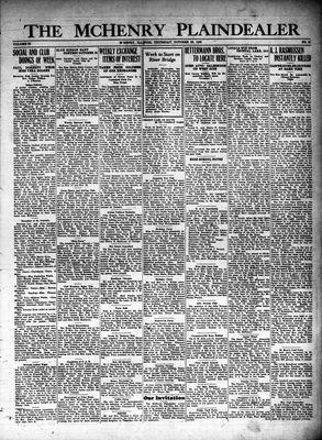 McHenry Plaindealer (McHenry, IL), 28 Oct 1926