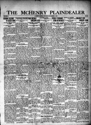 McHenry Plaindealer (McHenry, IL), 11 Nov 1926
