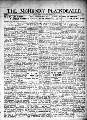 McHenry Plaindealer (McHenry, IL), 18 Nov 1926