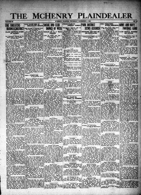 McHenry Plaindealer (McHenry, IL), 2 Dec 1926