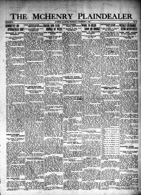 McHenry Plaindealer (McHenry, IL), 9 Dec 1926