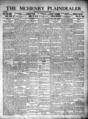 McHenry Plaindealer (McHenry, IL), 7 Apr 1927