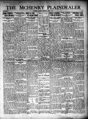 McHenry Plaindealer (McHenry, IL), 9 Jun 1927