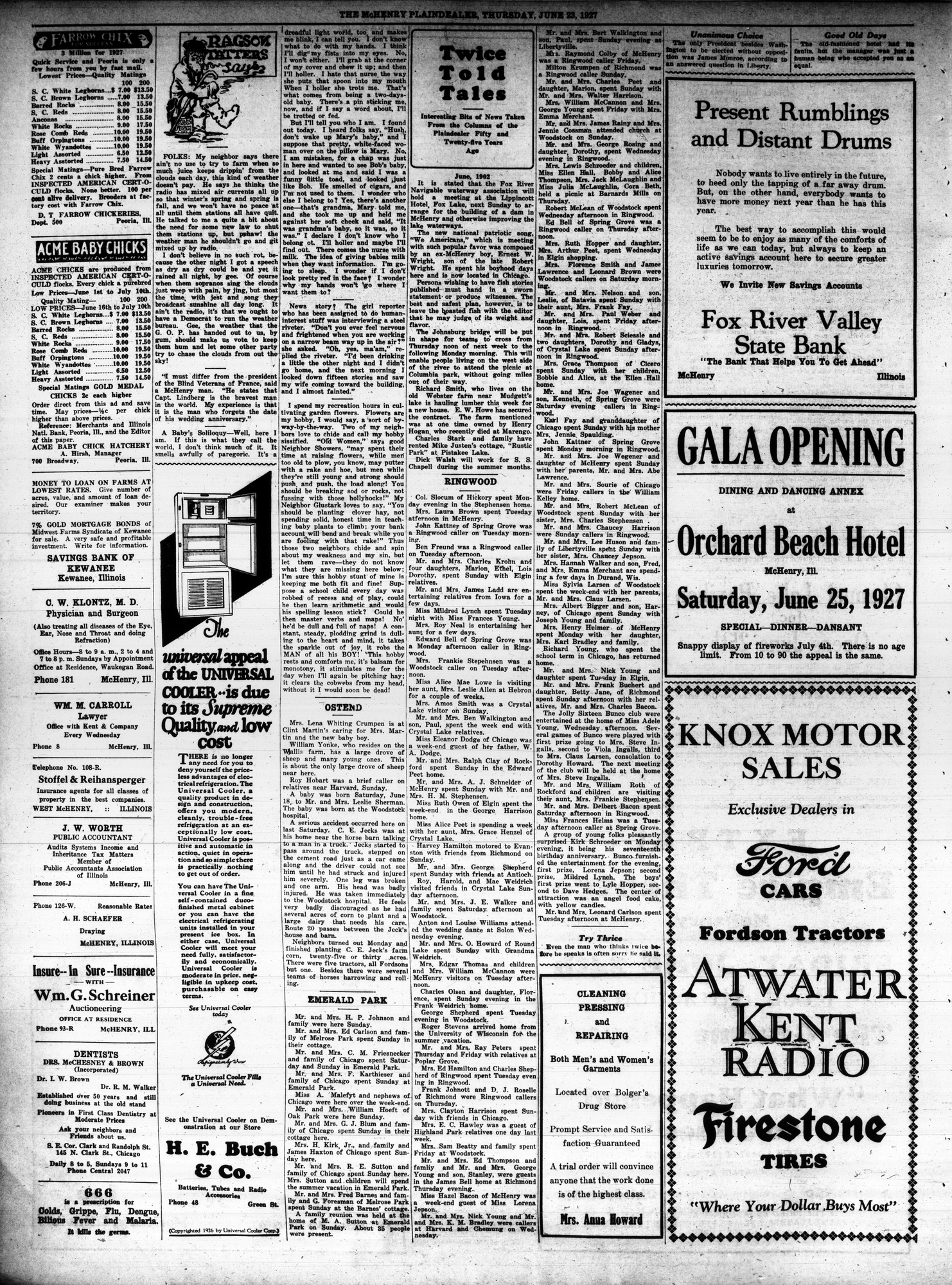 McHenry Plaindealer (McHenry, IL), 23 Jun 1927