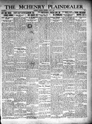McHenry Plaindealer (McHenry, IL), 7 Jul 1927