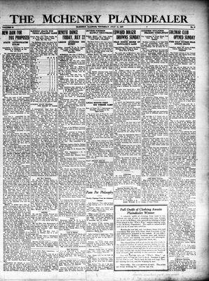 McHenry Plaindealer (McHenry, IL), 14 Jul 1927