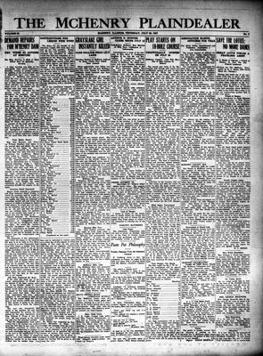 McHenry Plaindealer (McHenry, IL), 28 Jul 1927