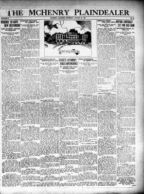 McHenry Plaindealer (McHenry, IL), 25 Aug 1927