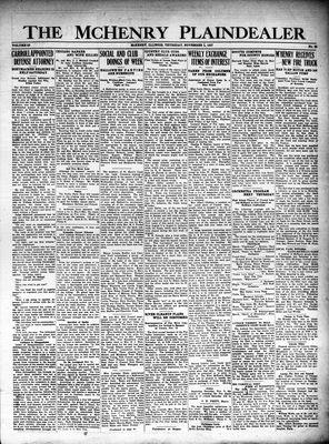 McHenry Plaindealer (McHenry, IL), 3 Nov 1927
