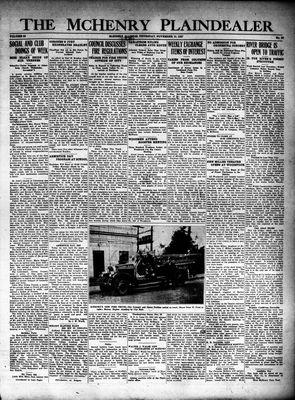 McHenry Plaindealer (McHenry, IL), 10 Nov 1927