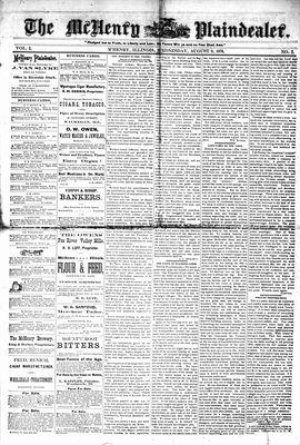 McHenry Plaindealer (McHenry, IL), 9 Aug 1876