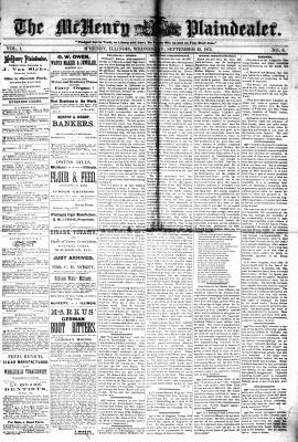 McHenry Plaindealer (McHenry, IL), 22 Sep 1875